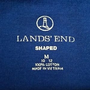 Lands' End Tops - Shaped thick cotton short sleeve t-shirt